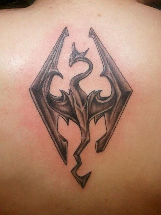 skyrim logo tattoo